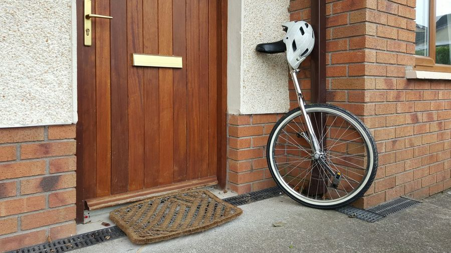 Four wheels bad, two wheels good. One wheel even better? Unicycle