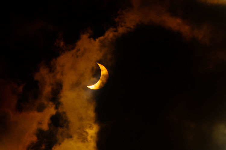 Close-up of moon at night