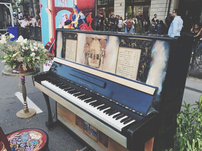 Musical Instrument Music Piano Flower Piano Key Day Indoors  Architecture No People The Street Photographer - 2017 EyeEm Awards