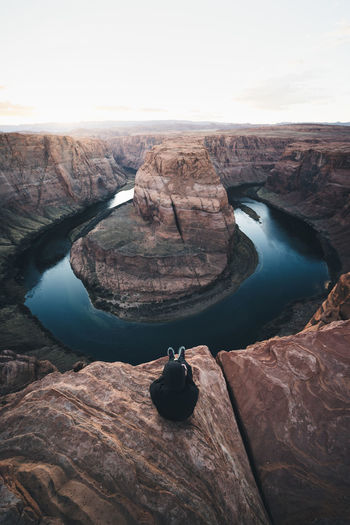One horse shoe for dinner, please! Rock Rock - Object Solid Scenics - Nature Rock Formation Water Beauty In Nature Tranquil Scene Tranquility Nature Non-urban Scene Travel Destinations Outdoors Travel Eroded Idyllic Remote Horse Shoe Horse Shoe Bend USA United States Arizona Utah Riverbend Cliff