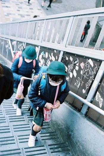 My Daily Commute Contax G2 Kodak Portra 35mm Film Film Tokyo Kids Everyday Lives Streetphotography