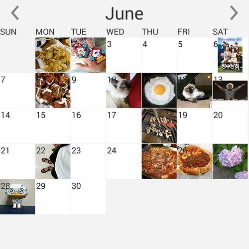이렇게 6월도 끝이 났네요 이제 7월인데 다들 즐거운 하루하루 보내세요~ 일상 6월끝 7월시작 Instacalendar 20150701