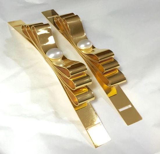•••la mia vita a colori••• Handmade Fiocco Goldsmith Gold Wedding Dress La Mia Vita A Colori 🌈