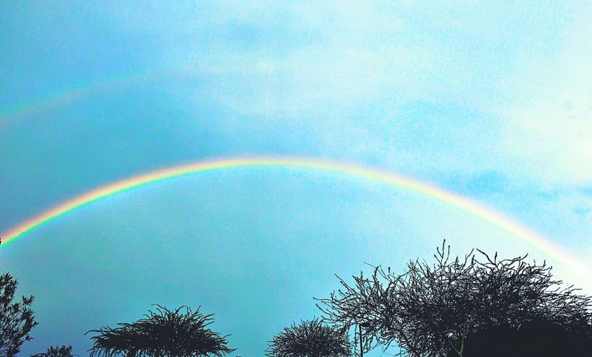 Rainbow Spotting Rainbow🌈 Beauty In Nature Rainbow Scenes Spacious Horizons Substantial Colors Rainbow Seen Around The World Did You Find The Pot Of Gold?