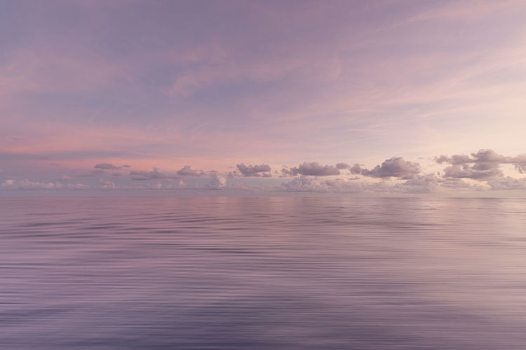 Pastel Dusk Sky Tranquility Water Scenics - Nature Tranquil Scene Sea Sunset Nature Waterfront Reflection Soft Pastel Dusk Horizon Clouds Pink Nature Seascape Tranquility Calm