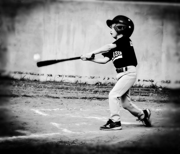 Capture The Moment Ball meet my bat... Baseballnights EyeEm BlackandWhite Swing Batter Batter Monochrome EyeEm Best Shots - Black + White Childsplay Check This Out Snapshots Of Life Popularphotos