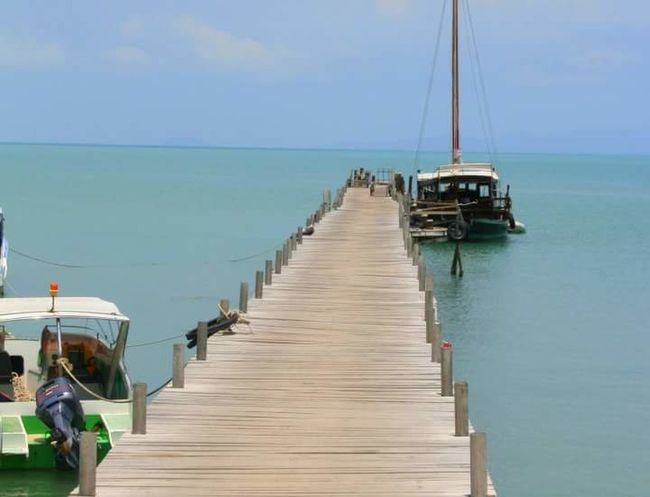 Sea Water Nautical Vessel Horizon Over Water Vacations Nature Thailand Love Travel Travel Destinations Tourism Jetty View Jetty, Pier Jetty Koh Samui Koh Samui Island Koh Samui,Thailand Ko Samui