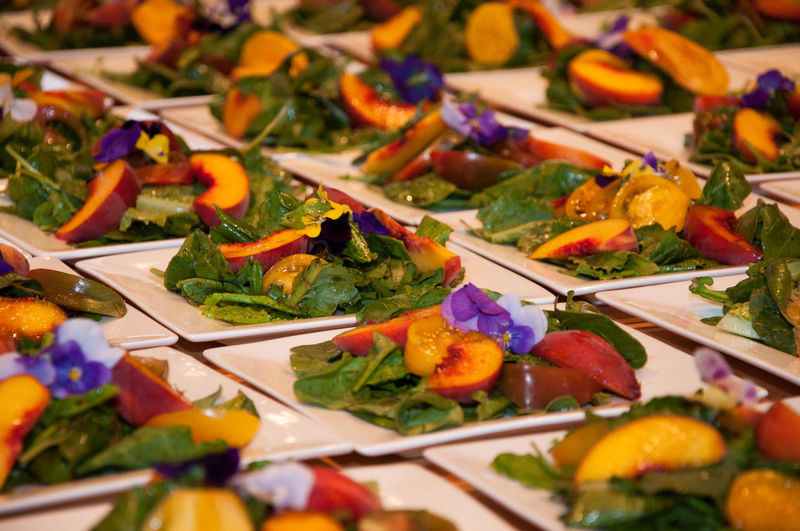Surfside Cuisine Food And Drink Food Freshness Healthy Eating Selective Focus Indoors  Vegetable Still Life No People Ready-to-eat Wellbeing Close-up Table Variation Choice Plate Serving Size Multi Colored Eating Utensil High Angle View Tray Vegetarian Food