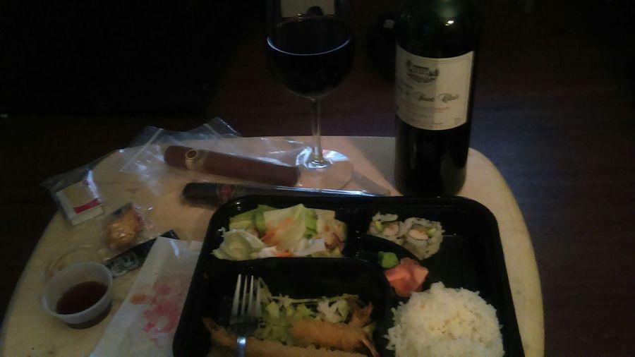 Dinner finally