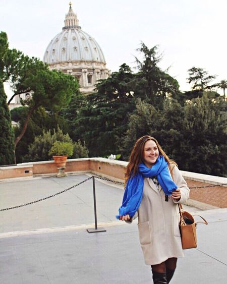 Rome Italy Italia Italian Italianeography Roma Rome Italy Saint Peter's Basilica Saint Peter's Cathedral Traveling Travel Photography Travel Happy Happy Girl  Smile Smilling Blue Scarf In Love First Eyeem Photo
