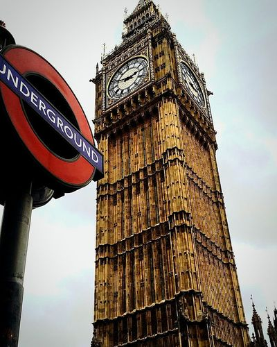 London Clock Tower Architecture Clock No People Outdoors Bigben Underground City Winter Freezing Travelling Londoning Tourist Photography Places I've Been Places Views Zebra Crossing