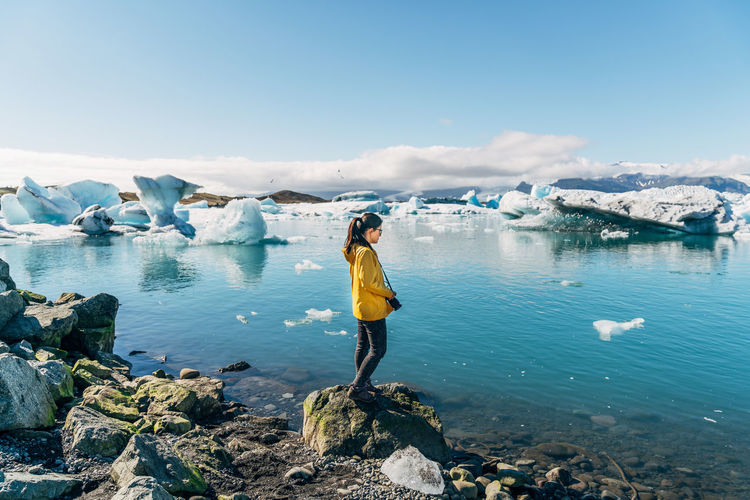 A7RII Adults Only Adventure Beach Beautiful Woman Beauty Beauty In Nature Discovery Environment Environmental Conservation Full Length Glacier Glaciers Ice Ice Iceland Landscape Nature One Person Outdoors People Purity Sea Travlr Lost In The Landscape