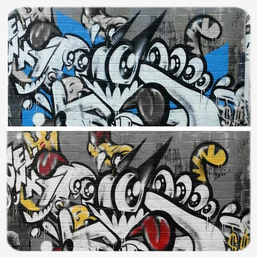 Streetart Filters Unwell Bunny Two Views