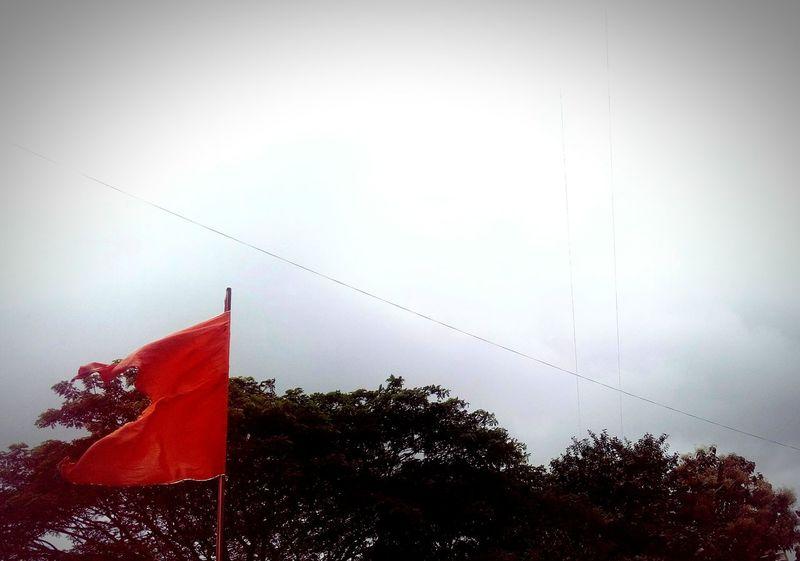 Flag Ssclix SSClicks SSClickPics SSClickpix Ssclickx Mobilephotography Tree Red Flag Sky Monsoon Rainy Season