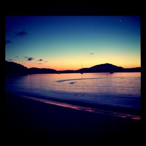 Sunset on the Whitsunday Islands Australia Oz travel