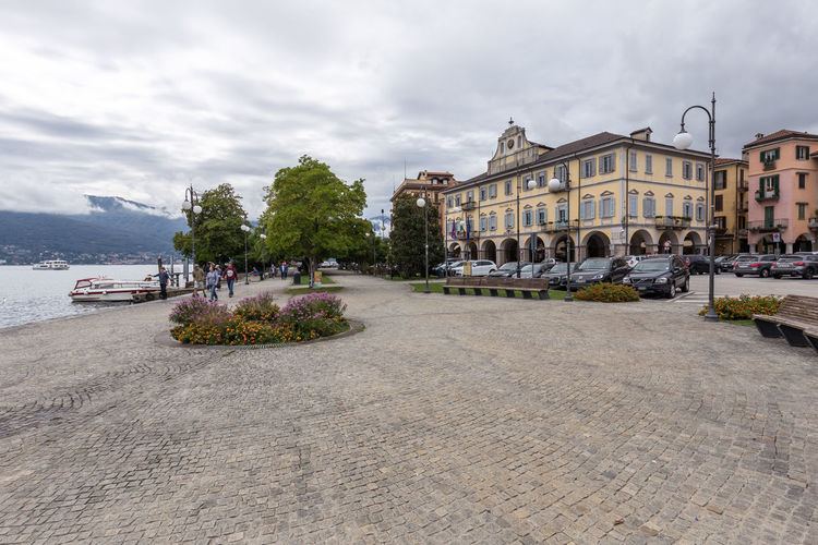 Cloudy Day in Verbania, Italy Italien Italy Italia Lago Maggiore Lake Lake View Verbania Alps Cloudy Nautical Vessel Marina Promenade Cloud - Sky Sky Outdoors