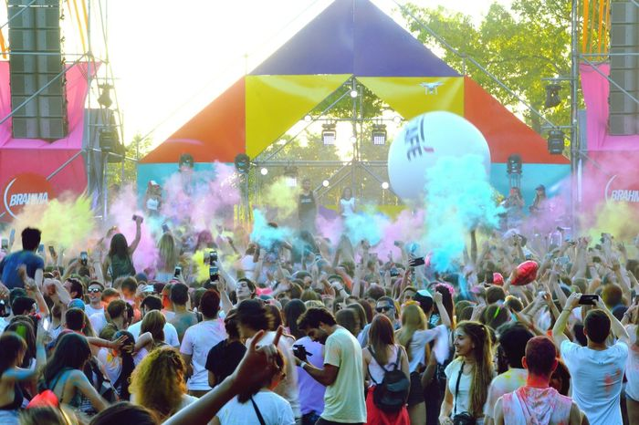 Wecolorfestival Colors Festival People Day Food Market Color Pastel Blue Pink Color Green Color Yellow Color
