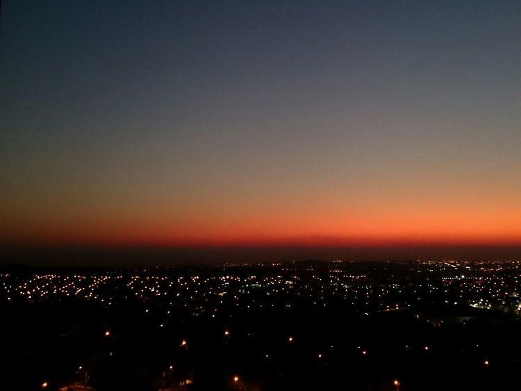 Sunset City Lights Dawn