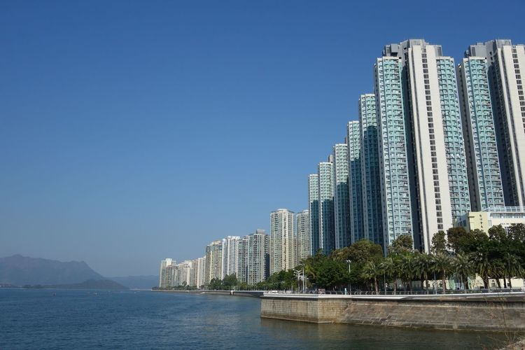 Waterfront at ma on shan