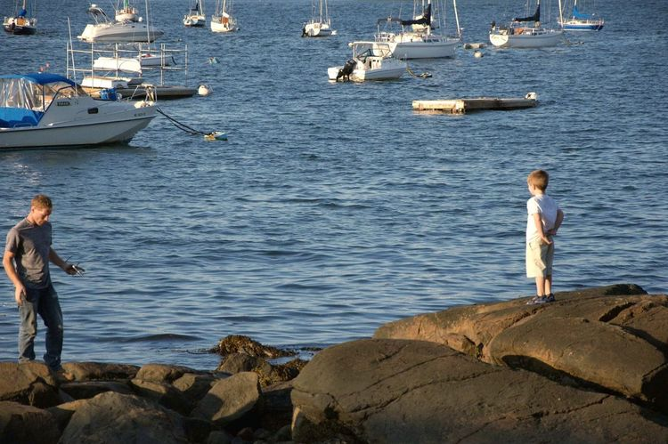 Fatherhood Moments Fatherhood  Modern Father Modern People Ocean View Harbor Boats Sea Rocks New England  Explore More