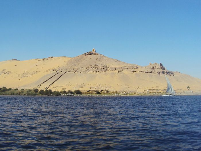 The Great Outdoors - 2016 EyeEm Awards Aswan, Egypt Egypt Riverboat Boat River Mountain Sand Sky, Water And Mountains Clear Sky Clear Water Relaxing Nile River Beauty In Nature Nature's Diversities The Essence Of Summer