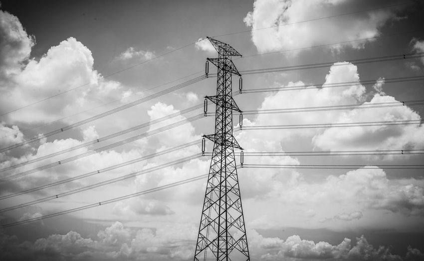 Cloud - Sky Cable Electricity  Sky Low Angle View Technology Electricity Pylon Power Line  Connection Power Supply Fuel And Power Generation No People Nature Day Outdoors Metal Built Structure Electrical Equipment Complexity Tall - High Iron - Metal Electrical Component