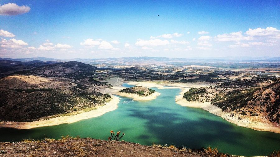 TakeoverContrast Water Scenics Tranquil Scene Tourism Beauty In Nature Travel Sky Non-urban Scene Mountain Travel Destinations Vacations High Angle View Cloud - Sky Nature Lake Tourist River Pergamon