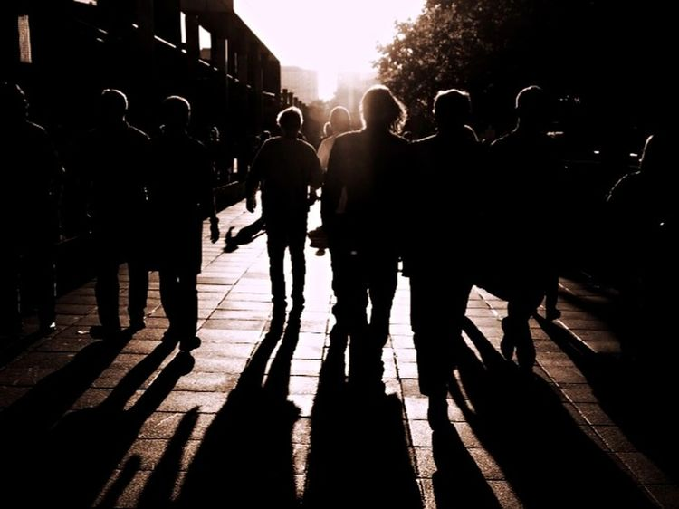 Out on the town Sunset Silhouettes