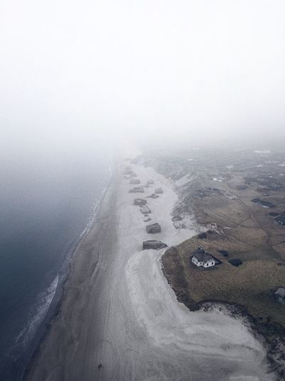 Løkken, Denmark Water Nature Day Sea Tranquility High Angle View No People Beauty In Nature Land Close-up Full Frame Beach Tranquil Scene Outdoors Wet Pattern Scenics - Nature Copy Space