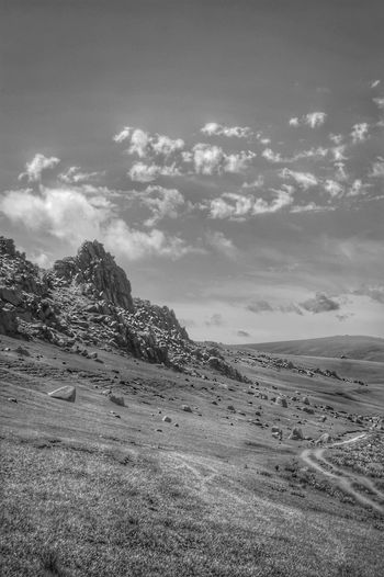 Mongolia Beauty In Nature Black And White Cloud - Sky Day Environment Idyllic Land Landscape Mountain Nature No People Non-urban Scene Orkhon Valley Outdoors Scenics - Nature Sky Steppe Tranquil Scene Tranquility Монгол улс