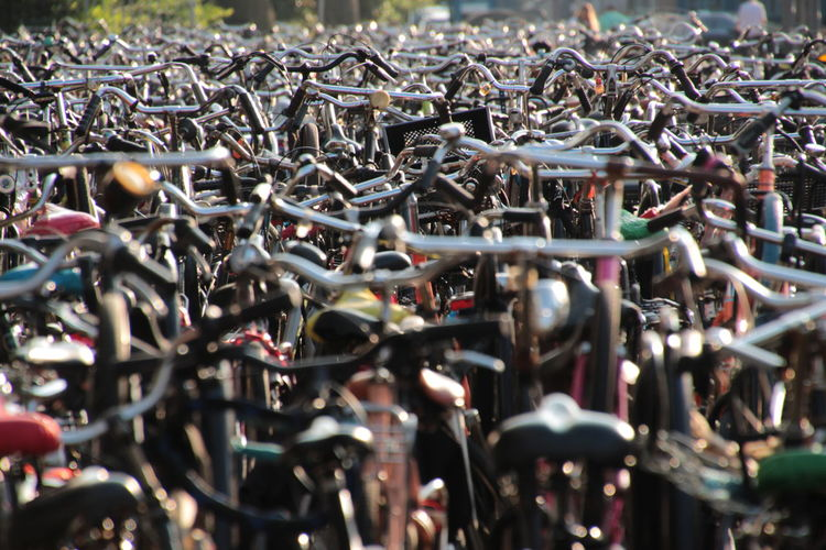 Bicycle High Angle View Holland❤ Large Group Of Objects Niederlande Rotterdam Central Station Where Is My Bike? Wo Ist Mein Fahrrad