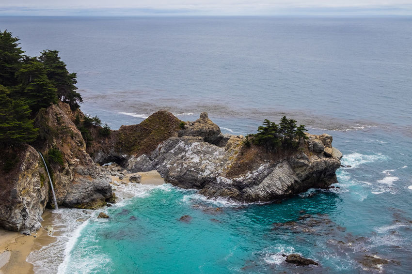 Big Sur Beauty In Nature Day Eroded High Angle View Horizon Over Water Idyllic Land Motion Nature No People Non-urban Scene Outdoors Rock Rock - Object Rock Formation Rocky Coastline Scenics - Nature Sea Sky Solid Tranquil Scene Tranquility Turquoise Colored Water