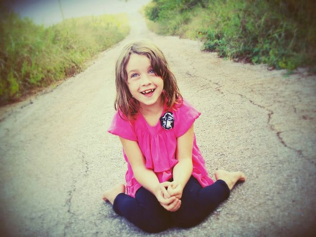 Happiness Childhood Little Girl Portrait Smile Giggle Heartwarming