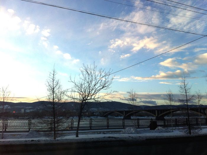 Morning Good Morning Krasnoyarsk Nature Mountains Winter Siberia December Russia