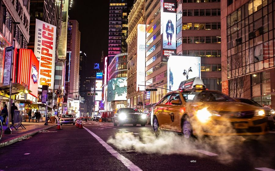 NYC Nights New York Night Bestoftheday EyeEm Best Shots Photography Travel Destinations Landscape Architecture City Building Exterior Transportation Built Structure Street Motor Vehicle City Street