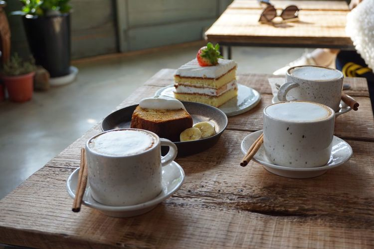 Wood - Material Cozy Sunshine Dessert Cake Cappuccino Coffee - Drink Coffee Cup Coffee Time Coffee Cafe Coffee Cup Food And Drink Table Coffee - Drink Drink Cup Refreshment Tea - Hot Drink Ready-to-eat Food Close-up