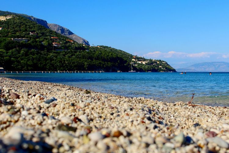 Any better? 😌☀🌊 Beach Sea Water Blue Vacations Canon100D Joaoaz90 Nature Summer Summertime Beachphotography Relaxing Moments Rocks And Water Europe Islands Greek Islands Corfu Greece Mediterranean  Photooftheday Grecia Greekislands Paradise Hollidays Day