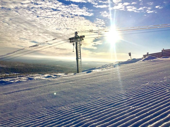 Skiing Cold