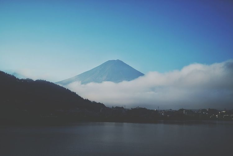 Scenic View Of Lake By Mount Fuji