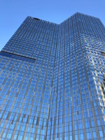 Architecture Building Exterior City Built Structure Low Angle View Modern Skyscraper Clear Sky Sky Blue Tall Tower No People Day Outdoors City Life Office Block Vegas  Merica