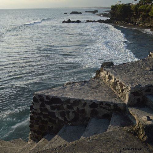 The beauty of nature. Taken by nikon d3200 INDONESIA Bali Sea Wave steps relax cliff