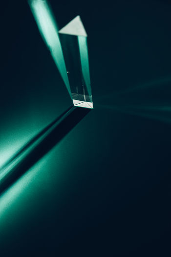 Black Background Close-up Day Green Color Illuminated Indoors  No People Prism Refraction Studio Shot