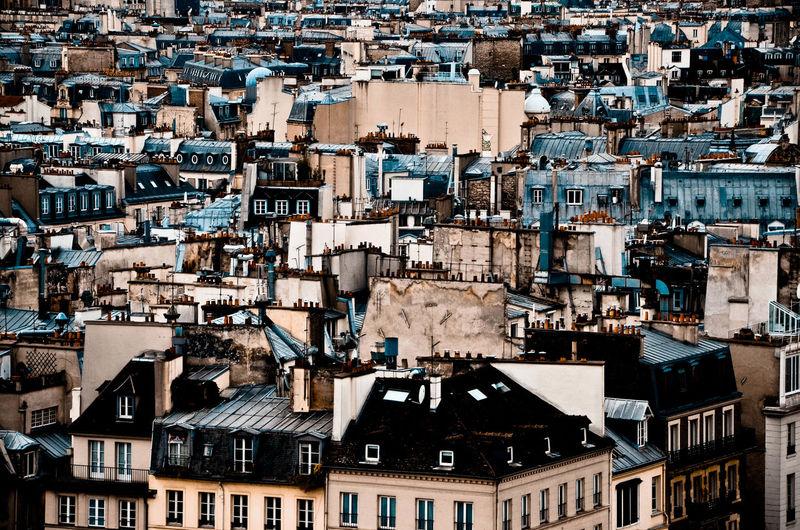 Full frame shot of buildings in town