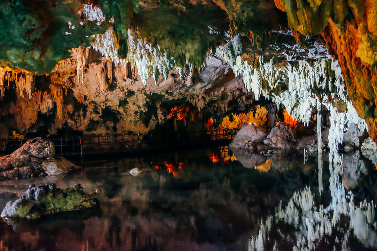 Cenote in Mexico Mexico Nature Nature Photography Tulum , Rivera Maya. Beauty In Nature Cave Caves Caves Photography Cenote Geology Indoors  Motion Nature No People Rock Rock - Object Rock Formation Solid Tulum Water