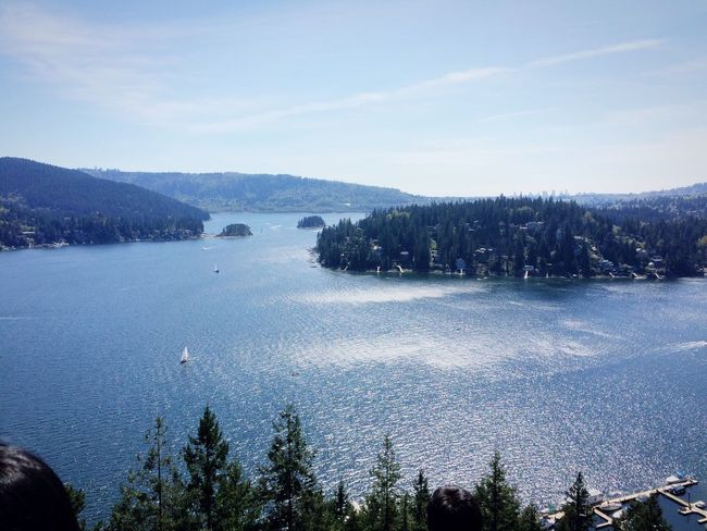 Vancouver Deep Cove Sunny Day Iandscape Sightseeing Nature