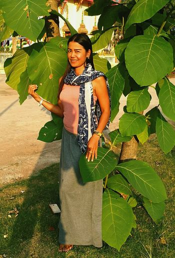 woman tree Tree People Beauty In Nature ❤️❤️ Thailand🇹🇭 2018 Day Green Color Beauty In Nature Leaf Full Length Plant EyeEmNewHere