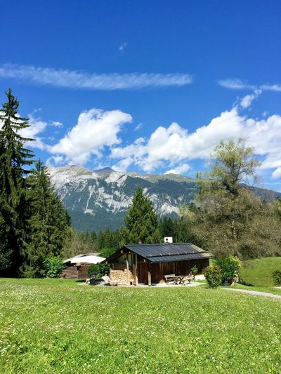Switzerland Plant Tree Sky Built Structure Architecture Cloud - Sky Grass Nature Building Exterior Building Growth Day Landscape Mountain Beauty In Nature No People Environment Field Land Green Color