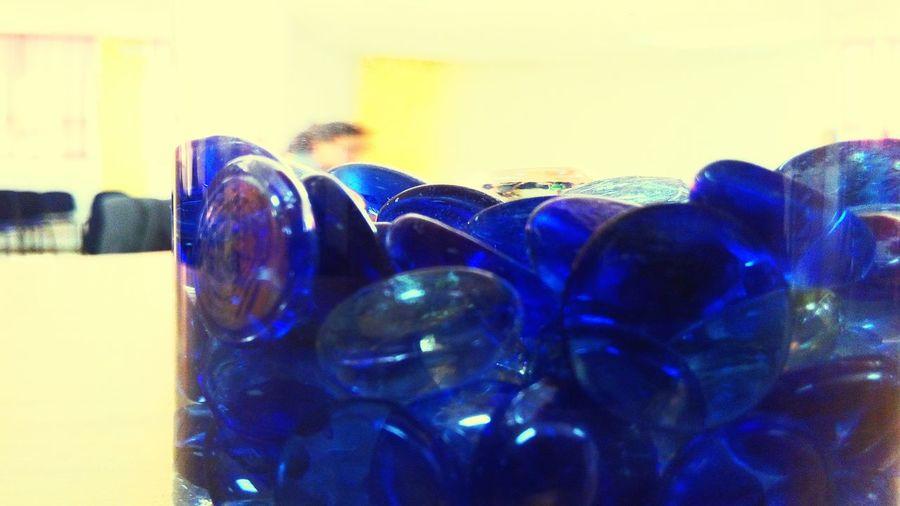 Close-up of blue fabric