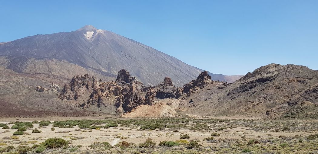 El Teide volcano El Teide, Vulcan Spain🇪🇸 Tenerife Island Vulcano Island Vulcan Vulcano Volcano Paesaggio Paesaggio Lunare Paesaggio Selvaggio Paesaggio Panorama Panoramic Clear Sky Landscape Eroded Geology Volcanic Landscape