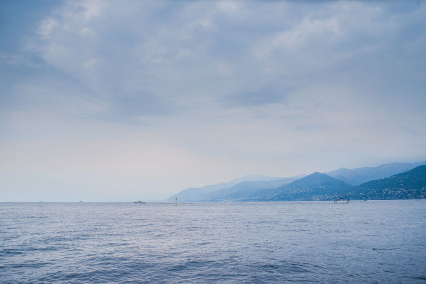 Camogli Dramatic Sky Adventure Beauty In Nature Blue Cloud - Sky Day Liguria Mountain Mountain Range Nature No People Outdoors Scenics Sea Sea View Sky Tranquil Scene Tranquility Water Waterfront
